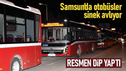 Samsun'da otobüs yolcu sayısı azaldı