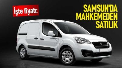 Samsun'da Peugeot Partner mahkemeden satılık
