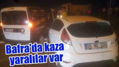 Bafra'da kaza yaralılar var