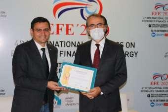4. Uluslararası Ekonomi, Finas ve Enerji (EFE'2020) Kongresi başladı