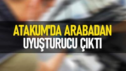 Atakum'da arabadan uyuşturucu çıktı