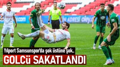 Samsunspor'un golcüsü sakatlandı