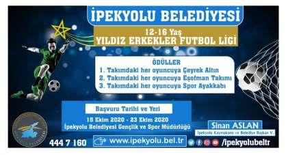 İpekyolu Belediyesi 'yıldız erkekler futbol ligi' kuruyor