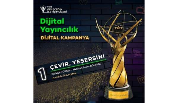 Anadolu Üniversitesi TRT Geleceğin İletişimcileri Yarışmasından ödülle döndü
