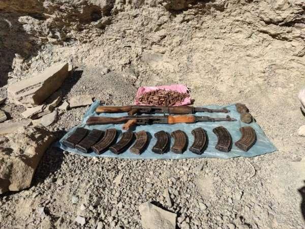 Van'da PKK terör örgütüne ait silah ve mühimmat el geçirildi