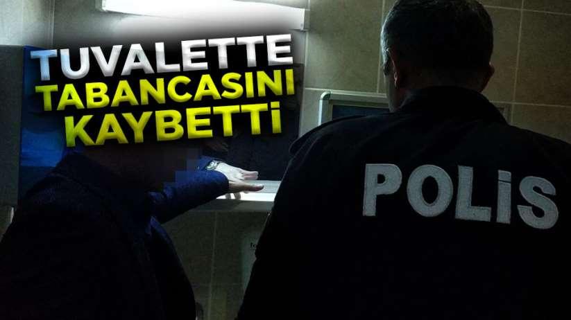 Samsun'da tuvalette unuttuğu tabancası kayboldu