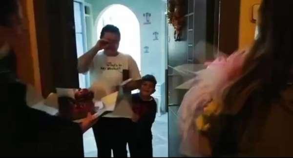 Kazada şehit olan polisin eşine doğum günü sürprizi