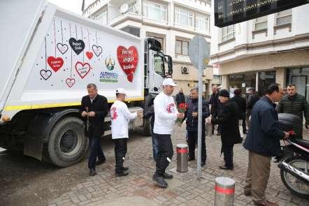 Ordu'da Belediyeden ilginç 'Sevgililer Günü' hediyesi