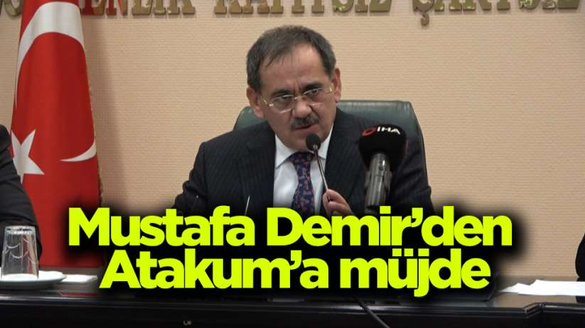 Samsun Büyükşehir Belediye Başkanı Mustafa Demir'den Atakum'a müjde