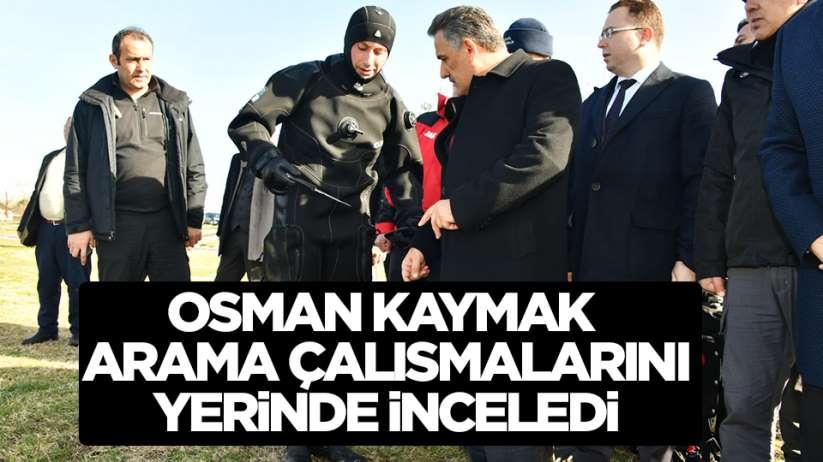 Samsun Valisi Osman Kaymak Terme Çayı'ndaki arama çalışmalarını inceledi