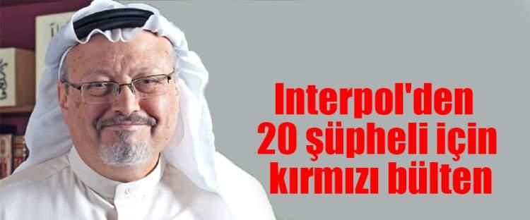 Interpol'den 20 şüpheli için kırmızı bülten
