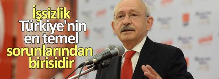 Kılıçdaroğlu işsizliğe dikkat çekti