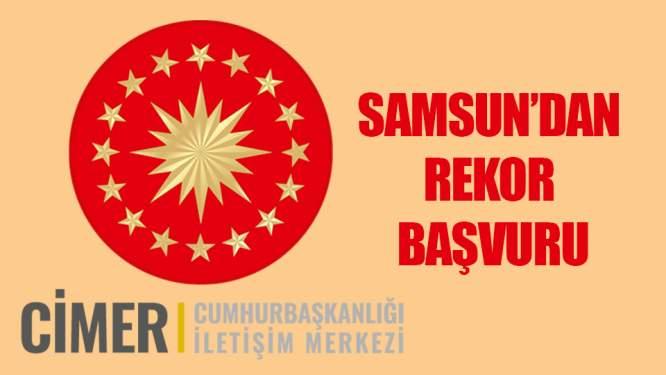 Samsun'dan CİMER'e 33 bin 615 başvuru