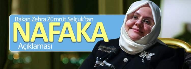 Bakandan 'Nafaka' konusunda açıklama