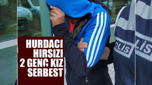 Samsun'da hurdacıdan hırsızlık zanlısı 2 kıza adli kontrol