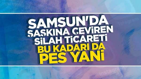 Samsun'da şaşkına çeviren silah ticareti
