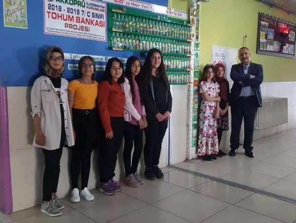 Van'ın çevreci okulundan 'Tohum Bankası' projesi