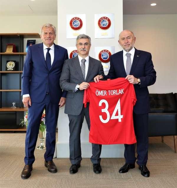 Rekabet Kurumu Başkanı Ömer Torlak'tan Başkan Özdemir'e ziyaret
