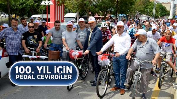 Samsun'da 100.yıla özel bisiklet gezisi düzenlendi