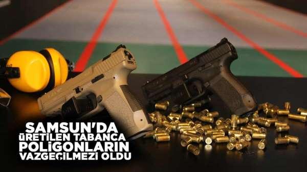 Samsun'da üretilen tabanca poligonların vazgeçilmezi oldu