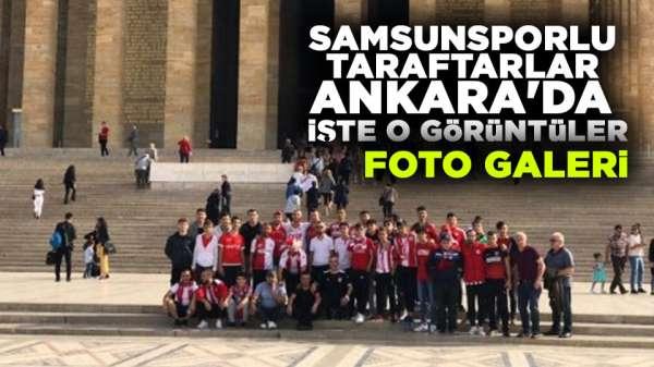 Samsunspor taraftarı Ankara'da iste o görüntüler