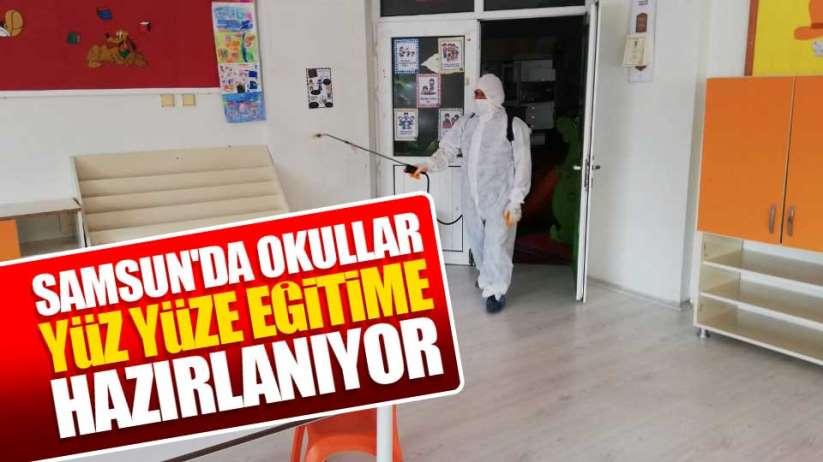 Samsun'da okullar yüz yüze eğitime hazırlıyor