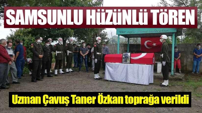 Samsun'da Uzman Çavuş Taner Özkan toprağa verildi