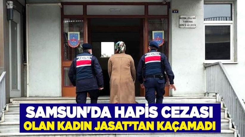 Samsun'da hapis cezası olan kadın JASAT'tan kaçamadı