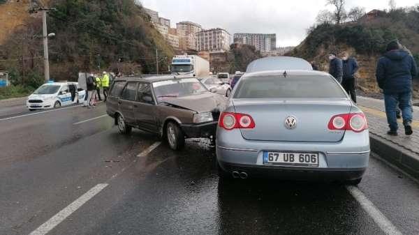 Zonguldakta trafiği felç eden kaza