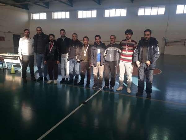 Çınar'da masa tenisi turnuvası sona erdi