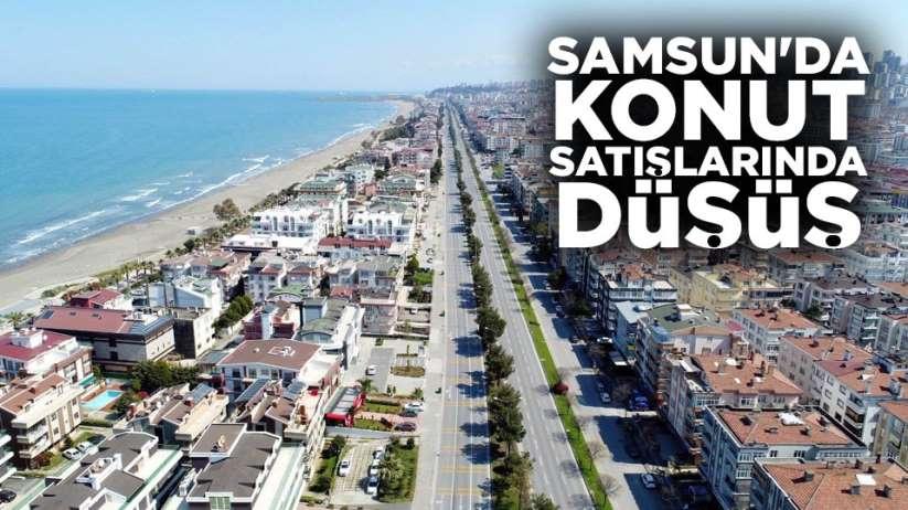 Samsun'da konut satışlarında düşüş