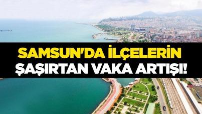 Samsun'da ilçelerin şaşırtan vaka artışı!