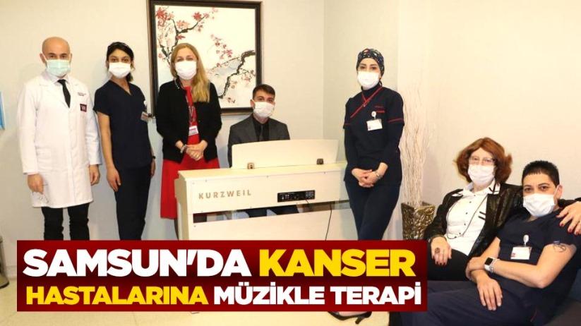 Samsunda kanser hastalarına müzikle terapi