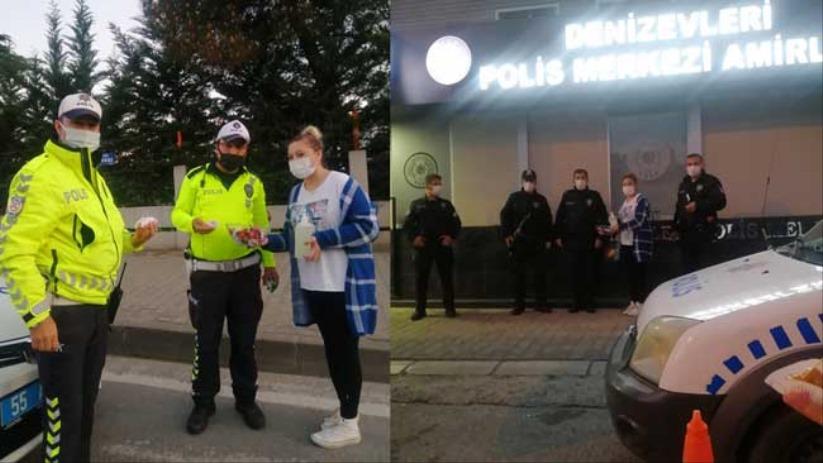 Atakumda polislere bayram ikramı