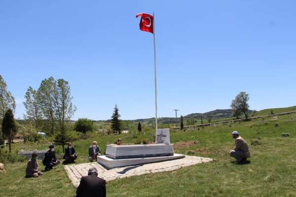 Şehit mezarları ziyaret edildi