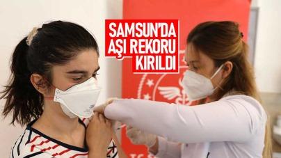 Samsun'da aşı rekoru kırıldı