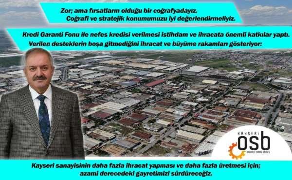 Başkan Nursaçan: Zor ama fırsatların olduğu bir coğrafyadayız