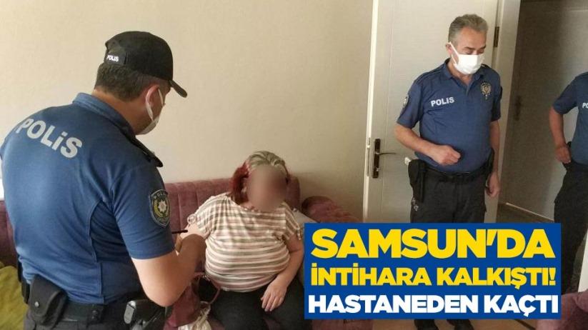 Samsunda intihara kalkıştı! Hastaneden kaçtı
