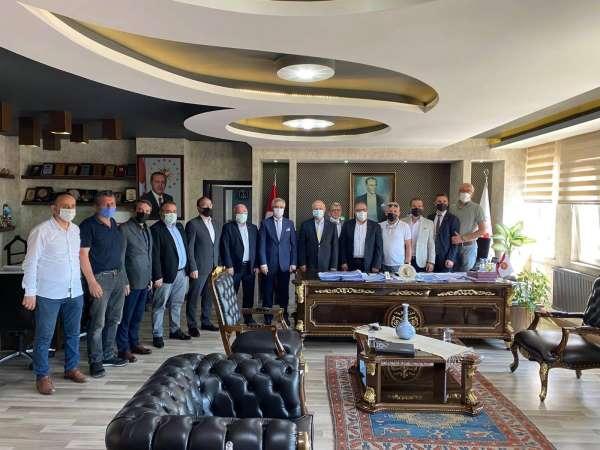 MÜSİAD, Kaymakam Çorumluoğlu ve üyelerle görüştü