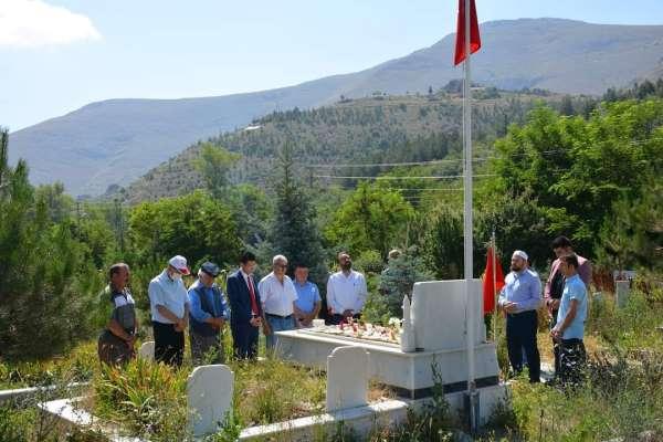 15 Temmuz etkinlikleri kapsamında şehit mezarları ziyaret edildi
