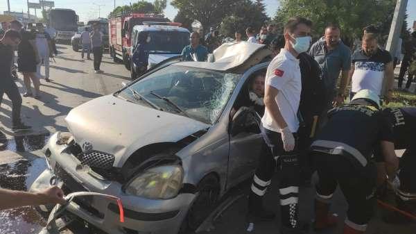 6 aracın karıştığı zincirleme kazada astsubay hayatını kaybetti