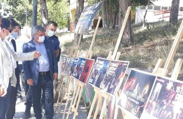 Altıntaşta resim sergisi açıldı, şehit aileleri ziyaret edildi
