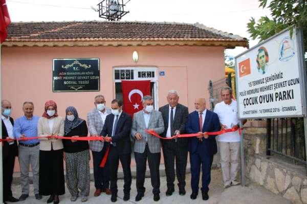 Elazığda şehit Mehmet Uzun sosyal tesisi ve parkının açılışı yapıldı