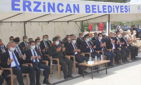 Erzincanda şehitler dualarla yâd edildi