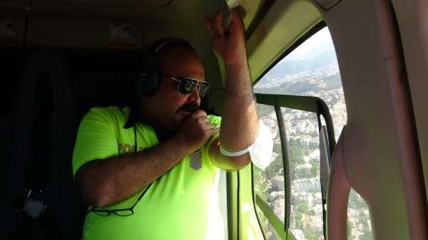 Muğlanın uçan gözü 15 Temmuz şehit ve gazileri için havalandı