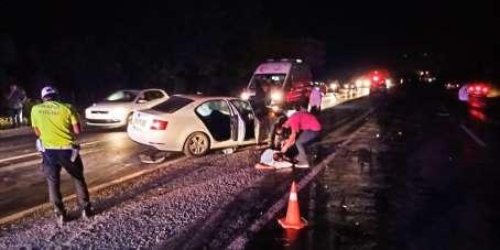 Zonguldak'ta trafik kazası: 1 ölü, 8 yaralı