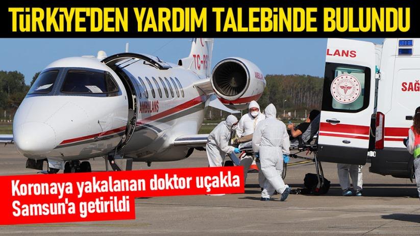Korona yakalanan doktor uçakla Samsuna getirildi