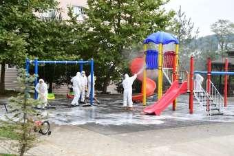 Altınordu'da park ve yeşil alanlarda hijyen seferberliği
