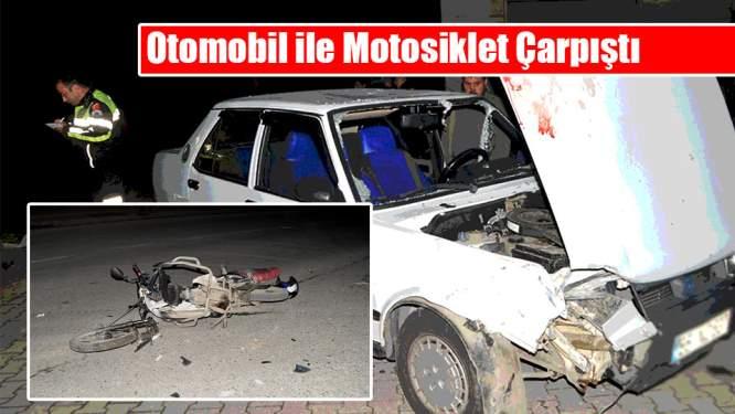 Samsun Haberleri: Otomobil ile Motosiklet Çarpıştı