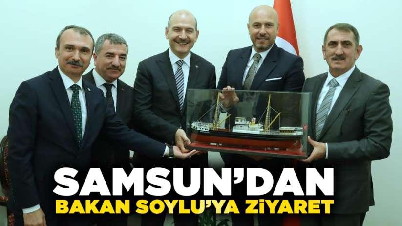 Samsun'dan Süleyman Soylu'ya ziyaret